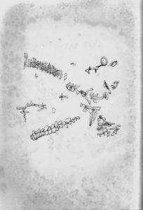⑨富松良夫『詩とエッセイ集 黙示』(表紙)1958年 龍舌蘭社