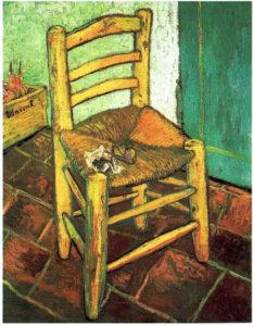 ⑪『ファン・ゴッホの椅子』 フィンセント・ファン・ゴッホ 1888年 所蔵:ロンドン、ナショナル・ギャラリー 出典:『Van Gogh in Arles (Pegasus Library)』 fred Nemeczek Prestel Publishing 1999年